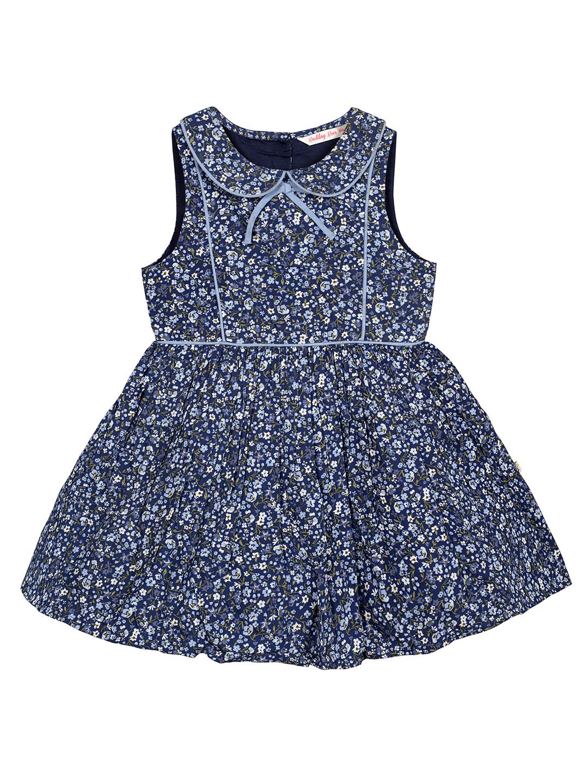 Budding Bees | Budding Bees Infants Blue Peter Pen Collar Dress-Blue