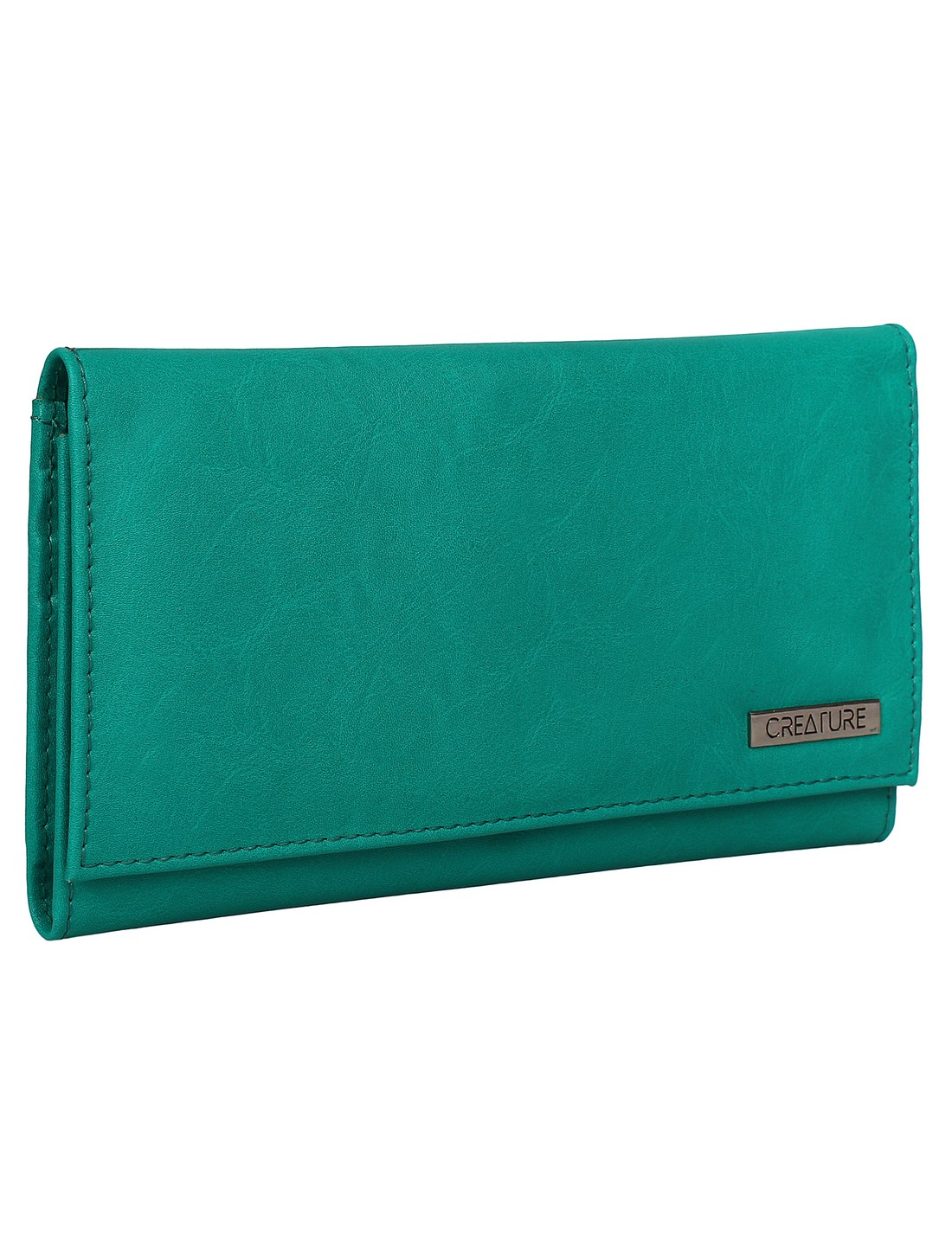CREATURE   CREATURE Turquoise Blue Stylish PU Clutch for Women