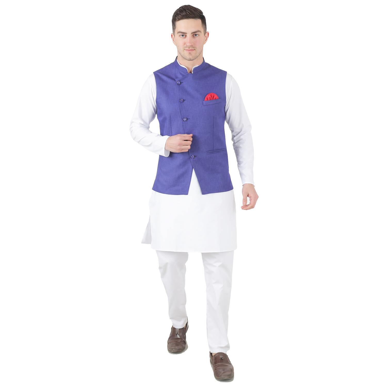 TAHVO | Tahvo Mens Nehru Jacket with Kurta Payjama 3 Piece Set Mens Kurta Pyjama