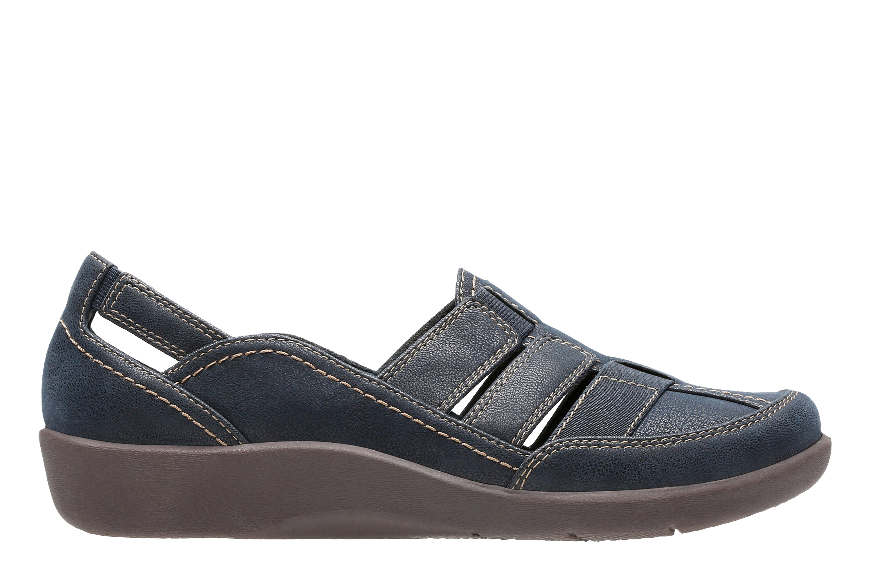 Clarks | Sillian Stork Navy Slip On shoes