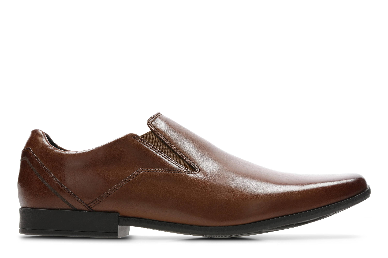 Clarks | Glement Slip British Tan Lea Slip On shoes