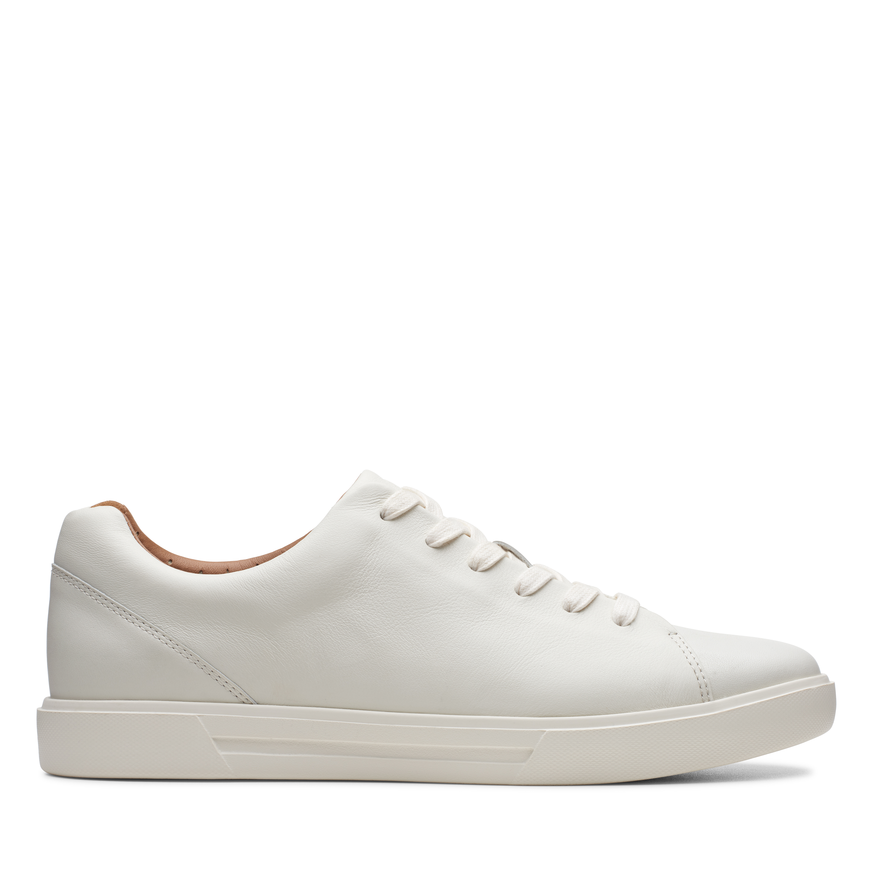 Clarks   Un Costa Lace White Leather Casual Lace-ups