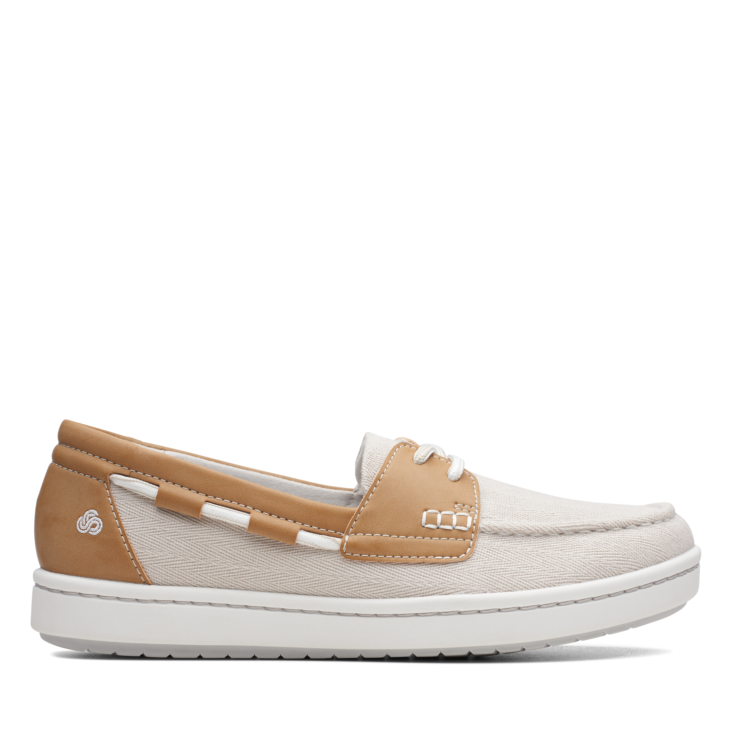 Clarks | Step Glow Lite Off White Slip On shoes