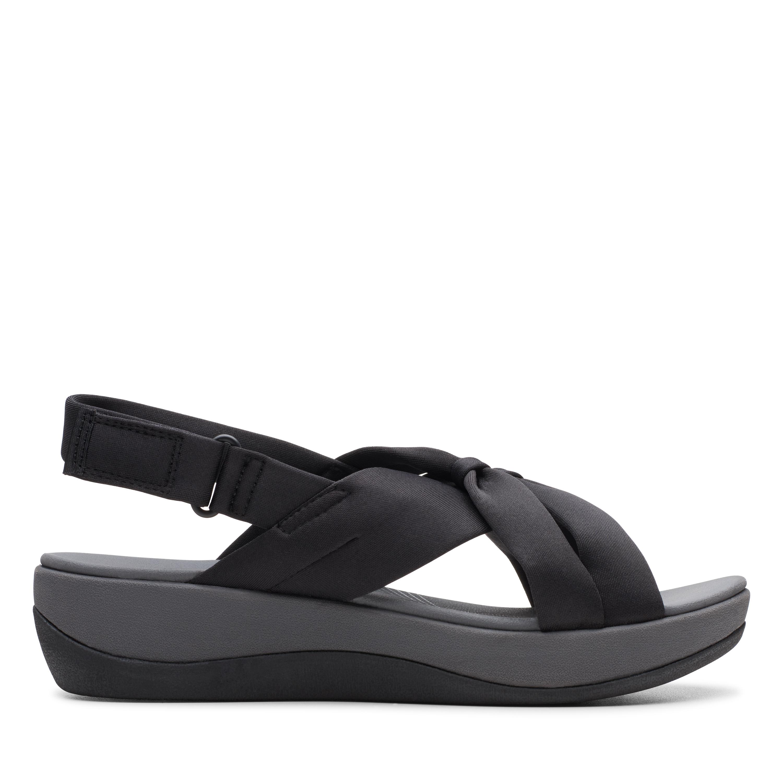 Clarks   Arla Belle Black Flat Sandals