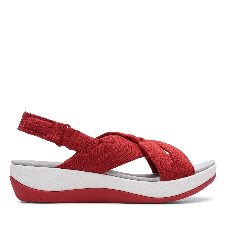 Clarks | Arla Belle Red Flat Sandals