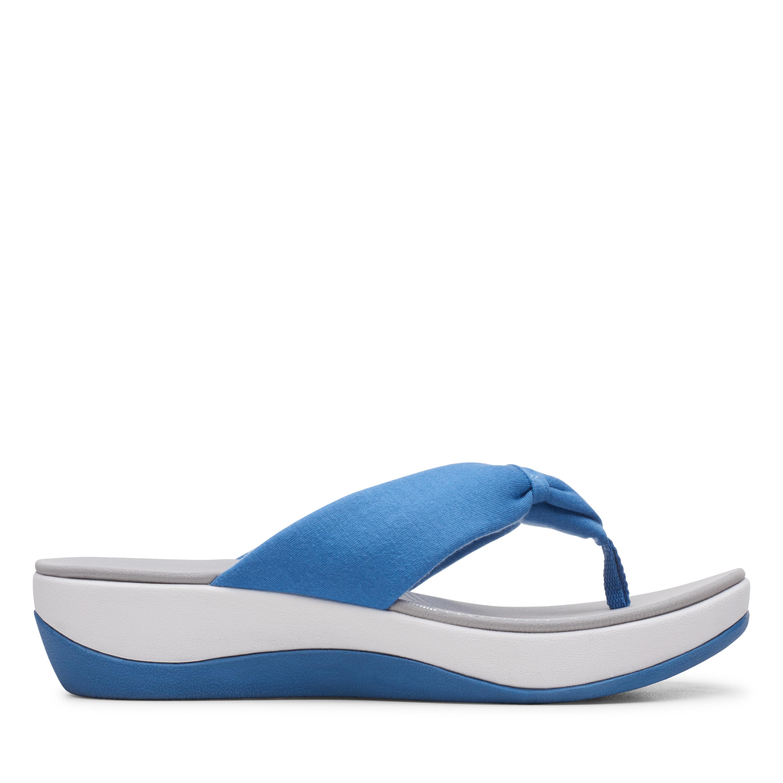 Clarks | Arla Glison Mid Blue Flat Sandals