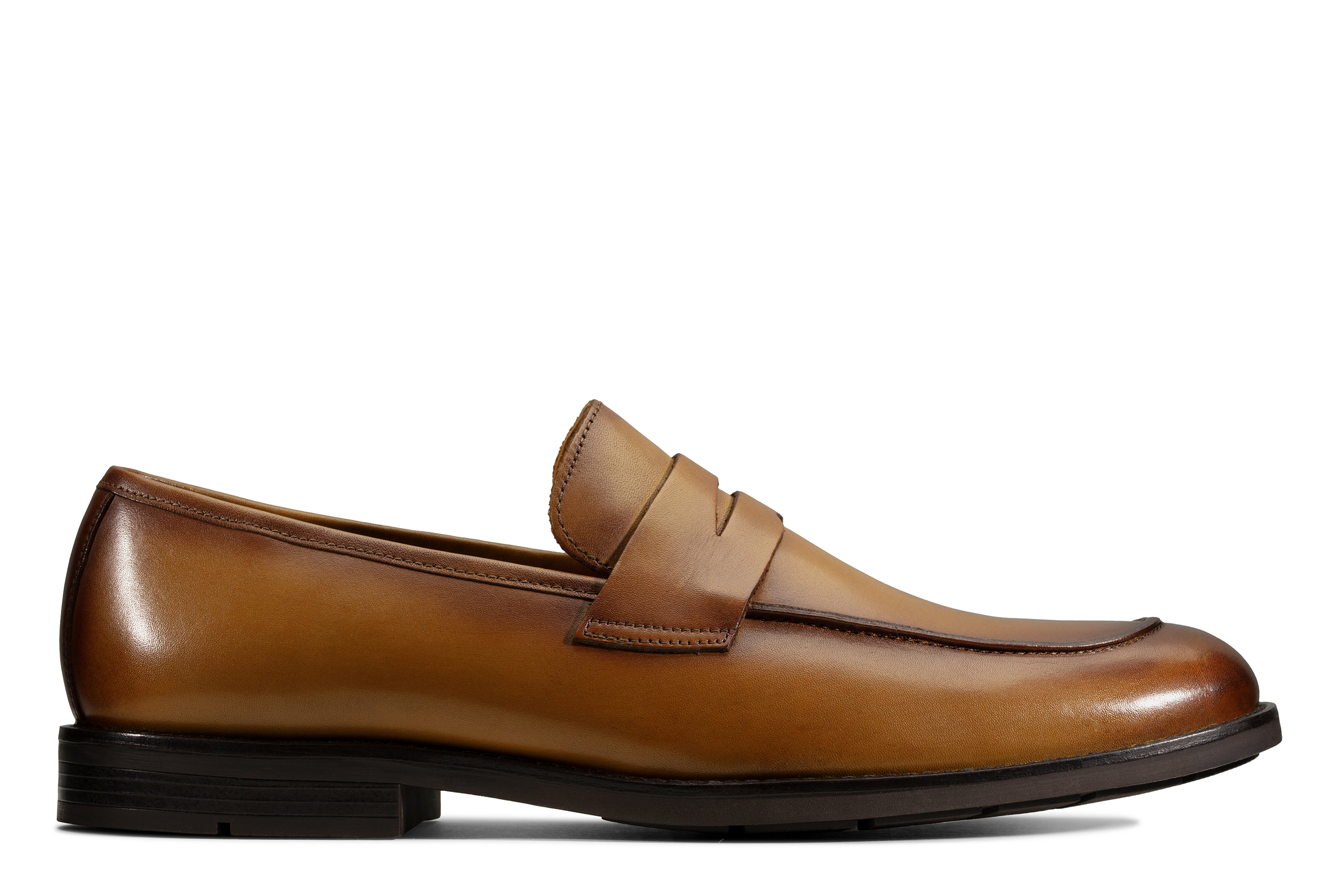 Clarks | Ronnie Step Tan Leather Loafers