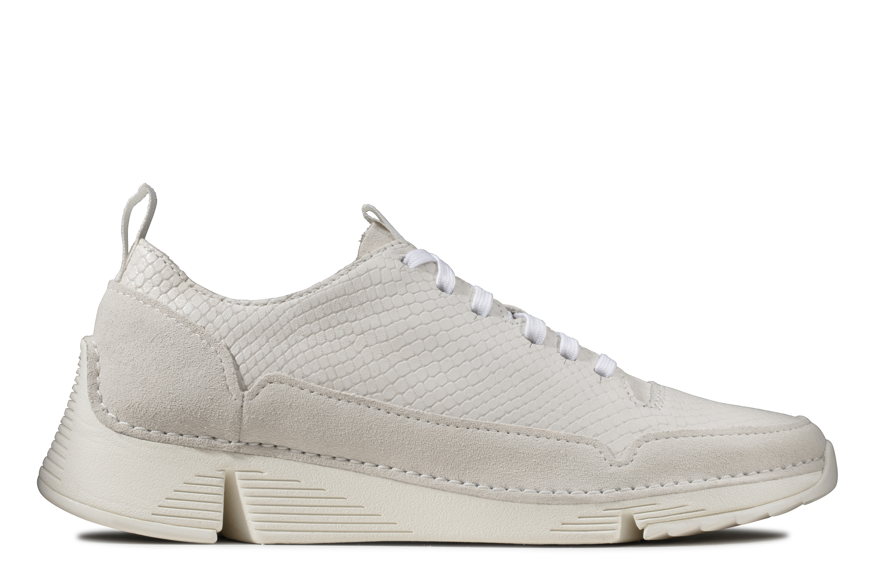 Clarks | Tri Spark. White Snake Casual Lace-ups