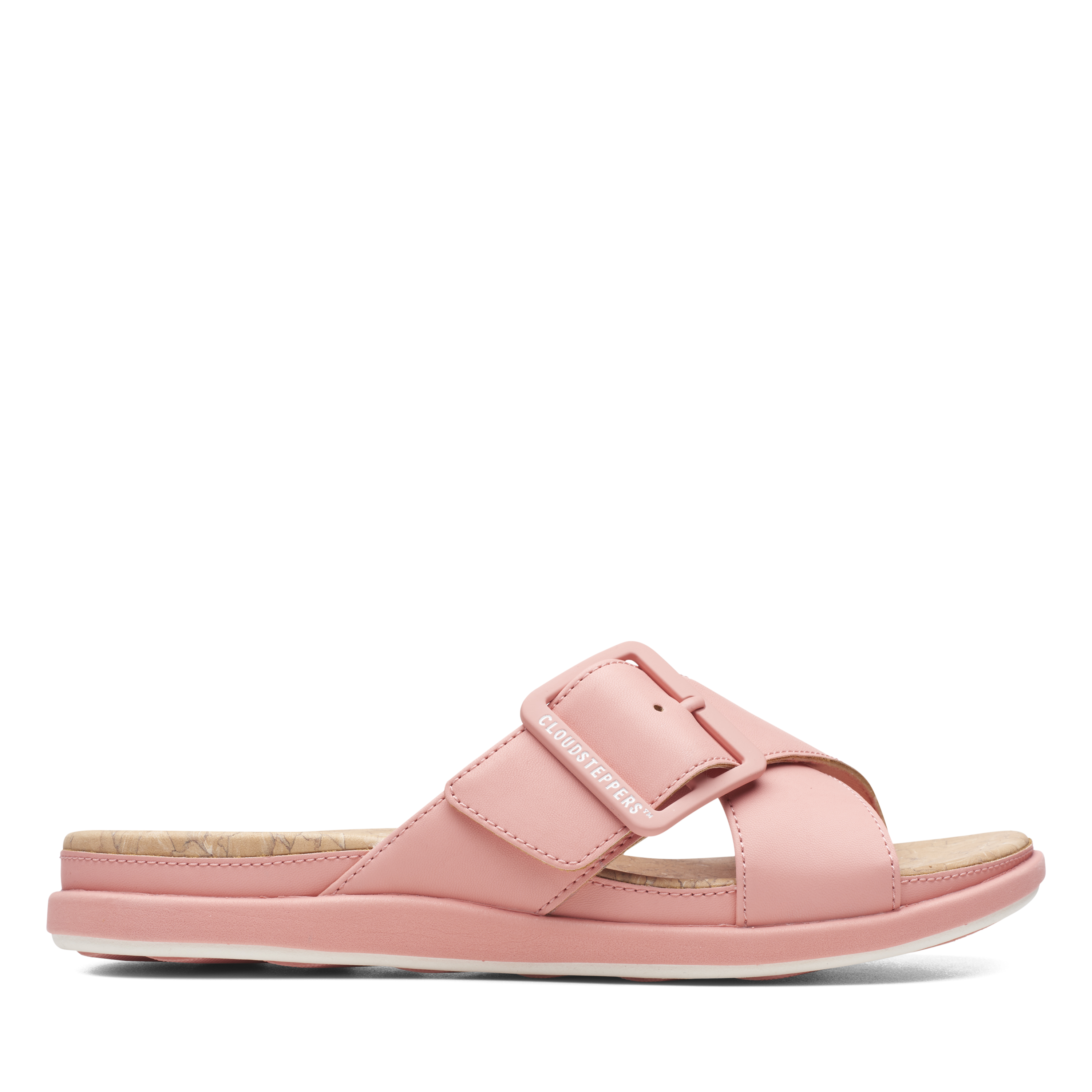 Clarks | Step Juneshell Coral Flat Sandals
