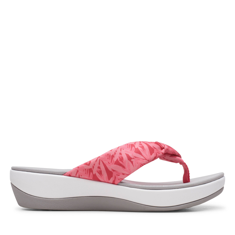 Clarks | Arla Glison Pink/Print Flat Sandals
