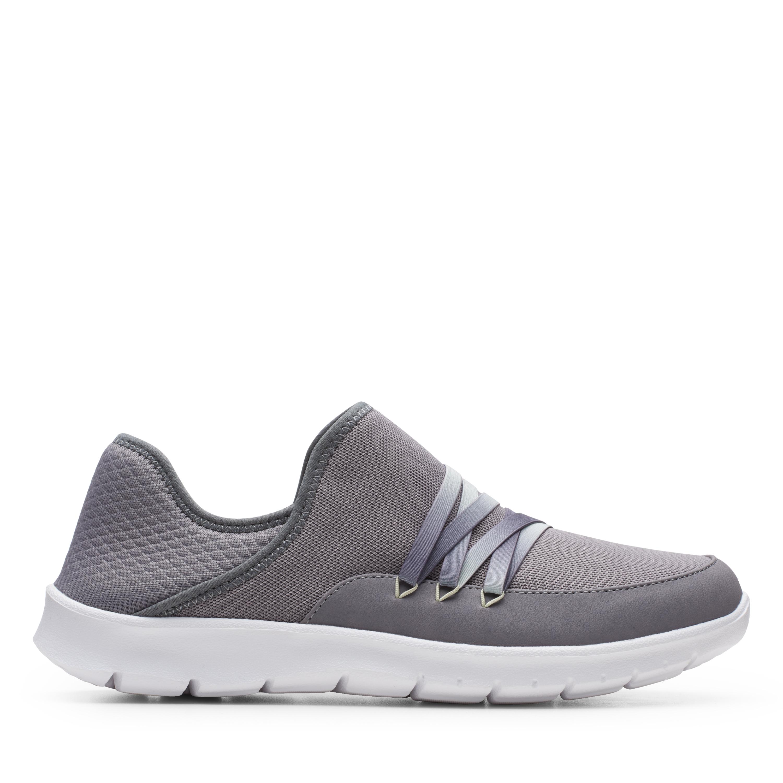 Clarks | Step Allena Hi Grey Slip On shoes