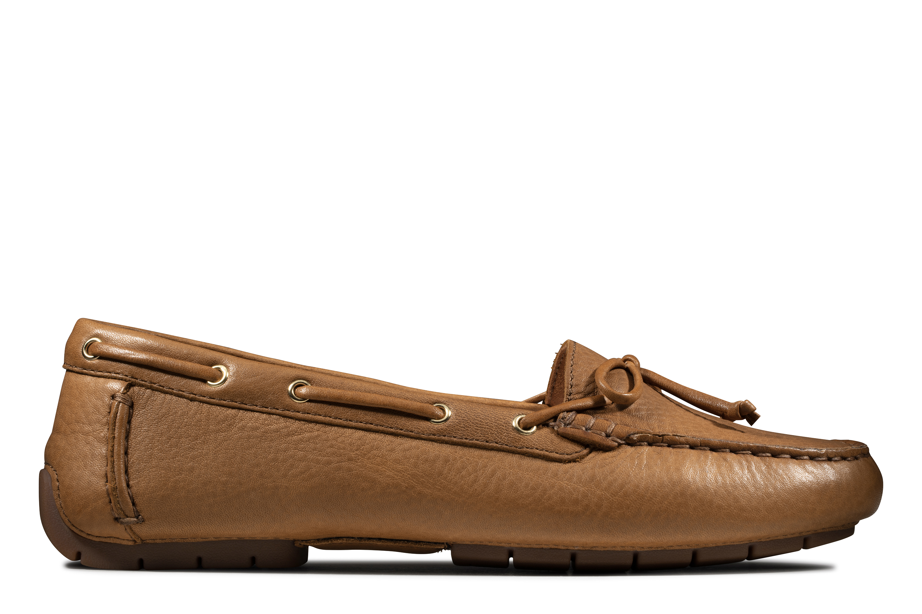 Clarks   C Mocc Boat Tan Leather Boat Shoes