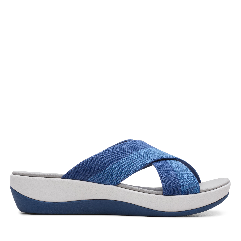 Clarks | Arla Elin Indigo Combi Flat Sandals