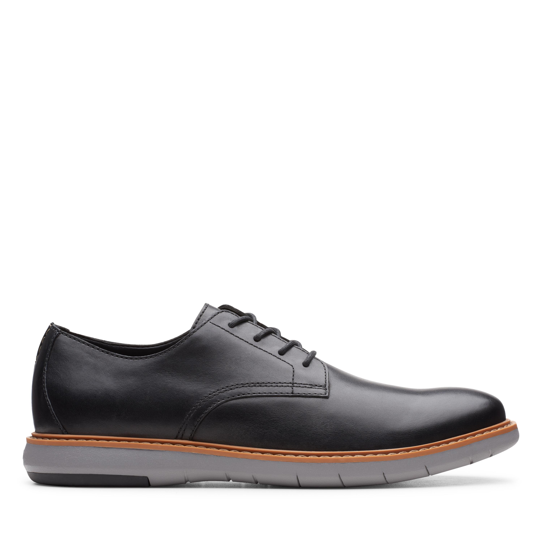 Clarks | Draper Lace Black Derby Shoes