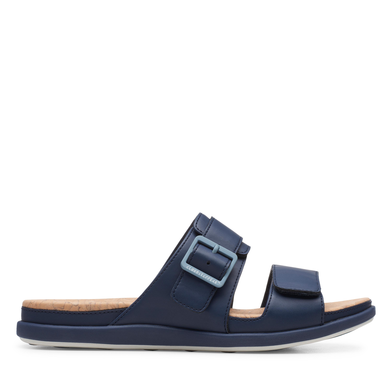 Clarks | Step June Sun Navy Flat Sandals