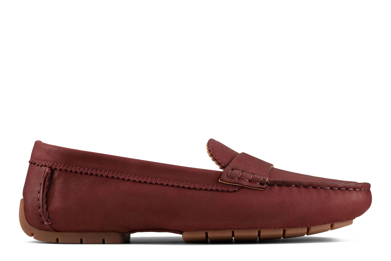 Clarks   C Mocc Merlot Leather Loafers