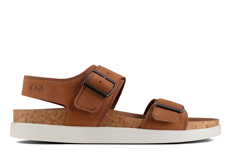 Clarks   Sunder Beach Dark Tan Nubuck Sandals