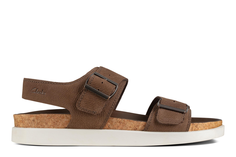 Clarks   Sunder Beach Mushroom Nubuck Sandals