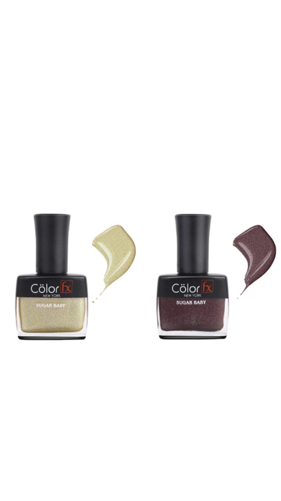 Color Fx | Color Fx Nail Enamel Sugar Baby - Wedding Collection Pack iof 2