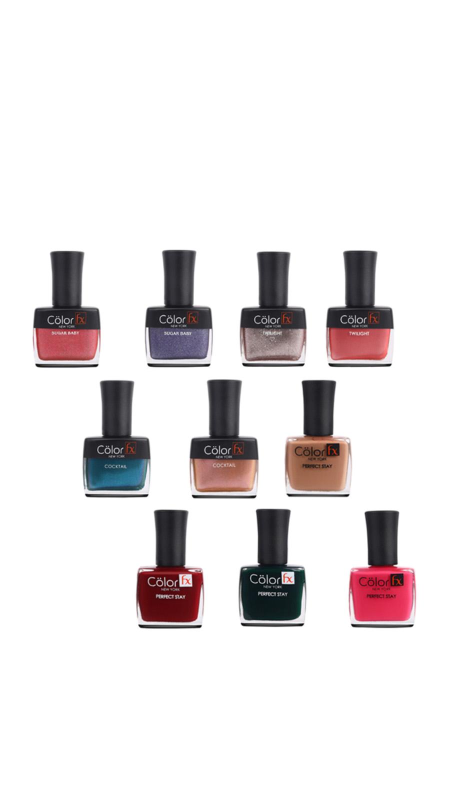 Color Fx | Color Fx Nail Enamel Super Saver Pack of 10