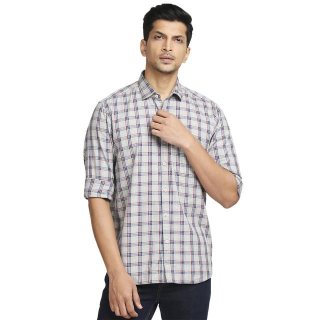 ColorPlus | ColorPlus Medium Grey Casual Shirt