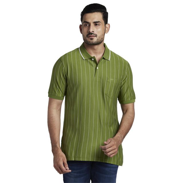 ColorPlus | ColorPlus Medium Green Tailored Fit T-Shirt