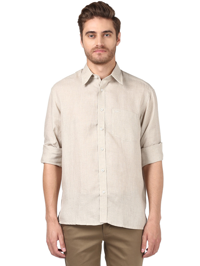 ColorPlus | ColorPlus Medium Fawn Casual Shirt