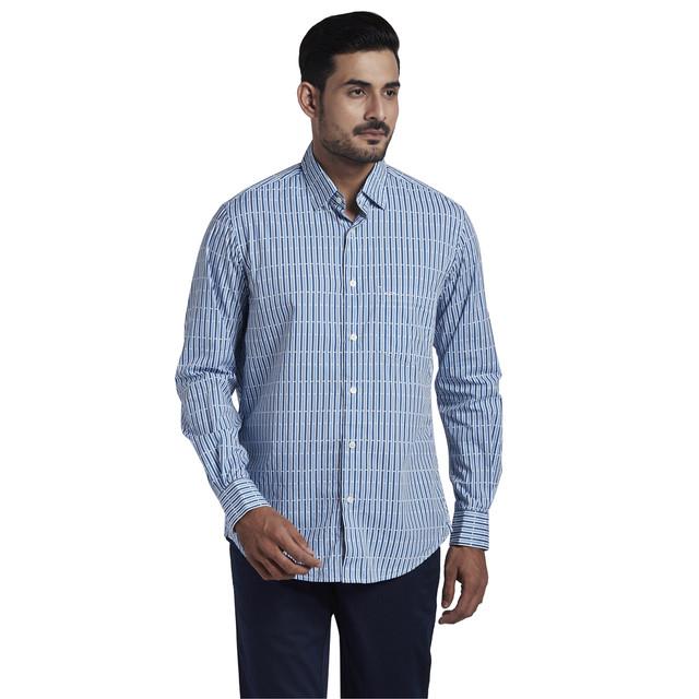 ColorPlus | ColorPlus Dark Blue Classic Fit Shirt