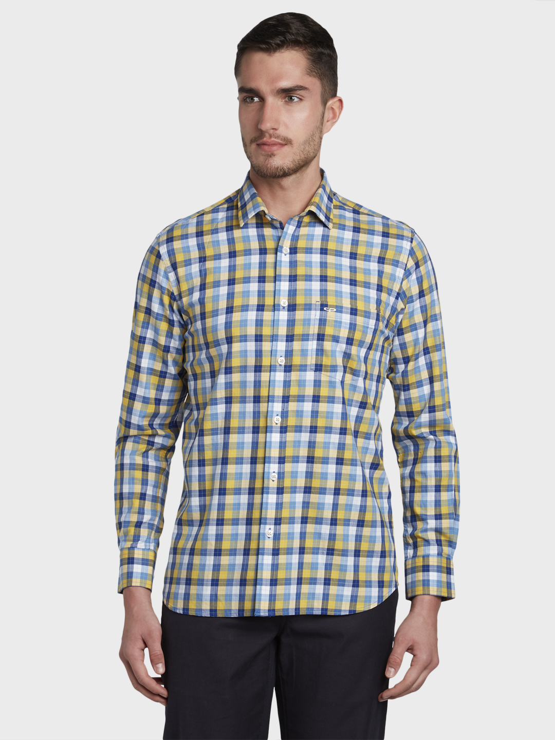 ColorPlus | ColorPlus Yellow Casual Shirt