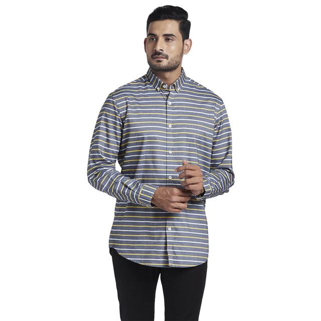 ColorPlus   ColorPlus Medium Yellow Tailored Fit Shirt