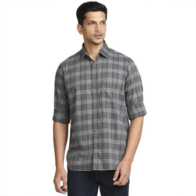 ColorPlus | ColorPlus Dark Grey Casual Shirt