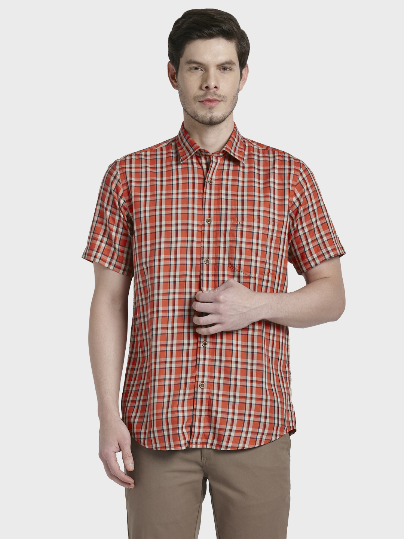 ColorPlus   ColorPlus Orange Casual Shirt
