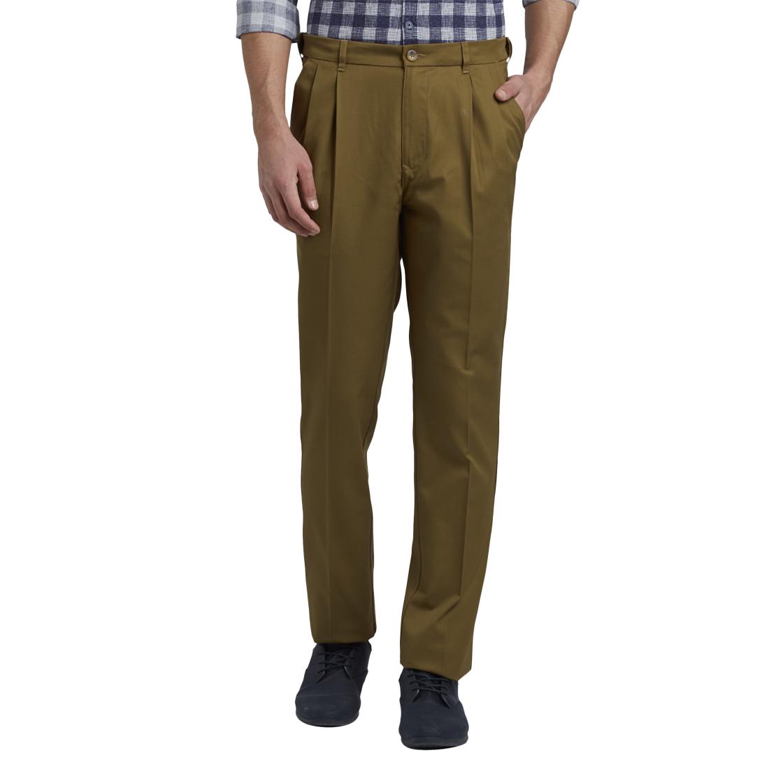 ColorPlus   ColorPlus Medium Khaki Regular Fit Trouser