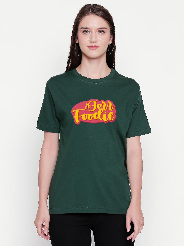 creativeideas.store | Jorr Foodie Green Tshirt by Aditi Raval - creativeideas.store