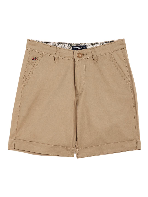Crimsoune Club | Crimsoune Club Boy's Beige Solid Shorts