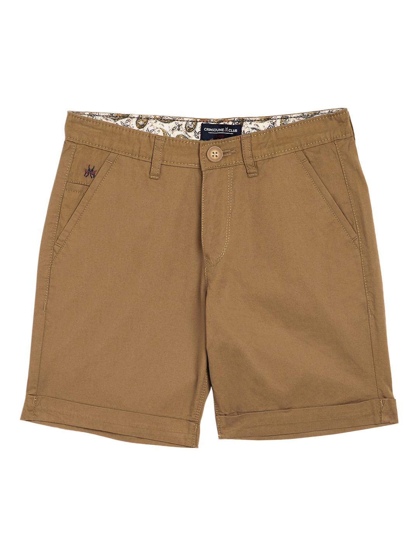 Crimsoune Club | Crimsoune Club Boy's Khaki  Solid Shorts
