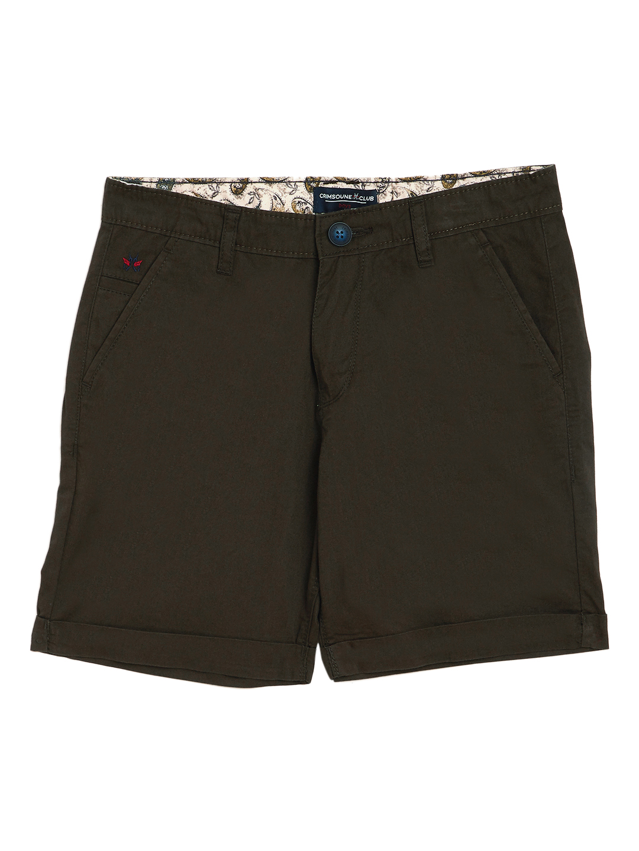 Crimsoune Club | Crimsoune Club Boy's Olive Solid Shorts