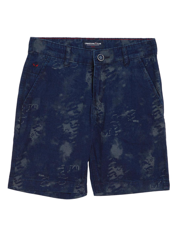 Crimsoune Club | Crimsoune Club Boy's Navy Blue Printed Shorts