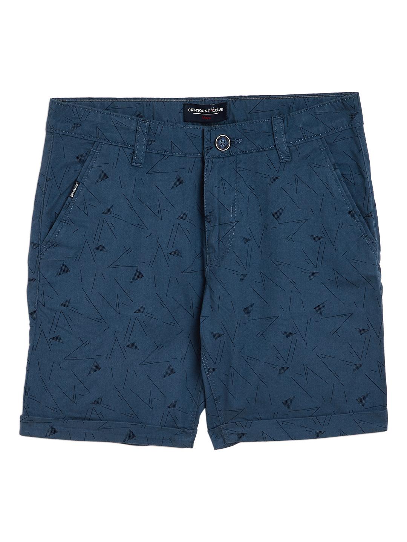 Crimsoune Club | Crimsoune Club Boy's Blue Printed Shorts