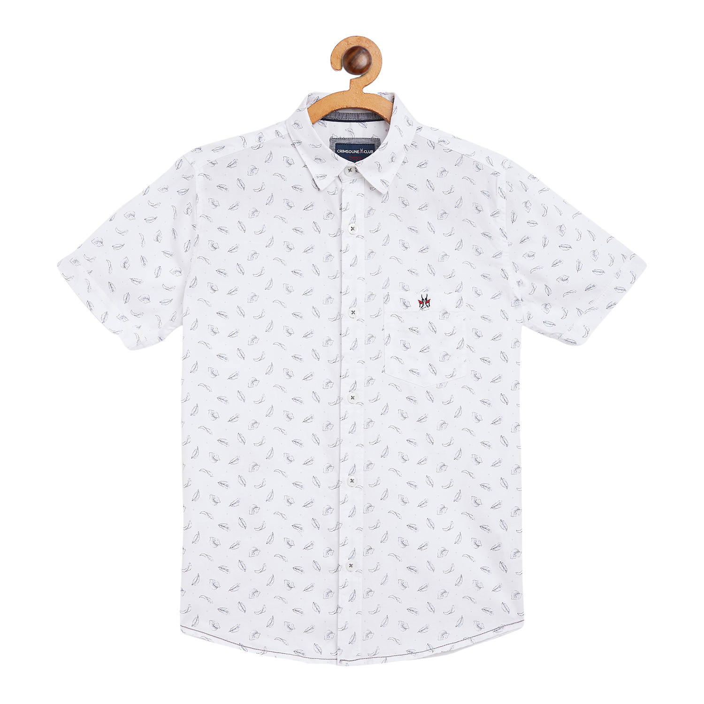 Crimsoune Club | Crimsoune Club White Printed Boy's Shirt