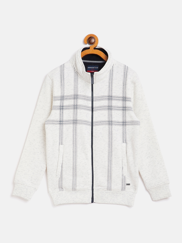 Crimsoune Club | Crimsoune Club Boy Checked White Sweat Shirt