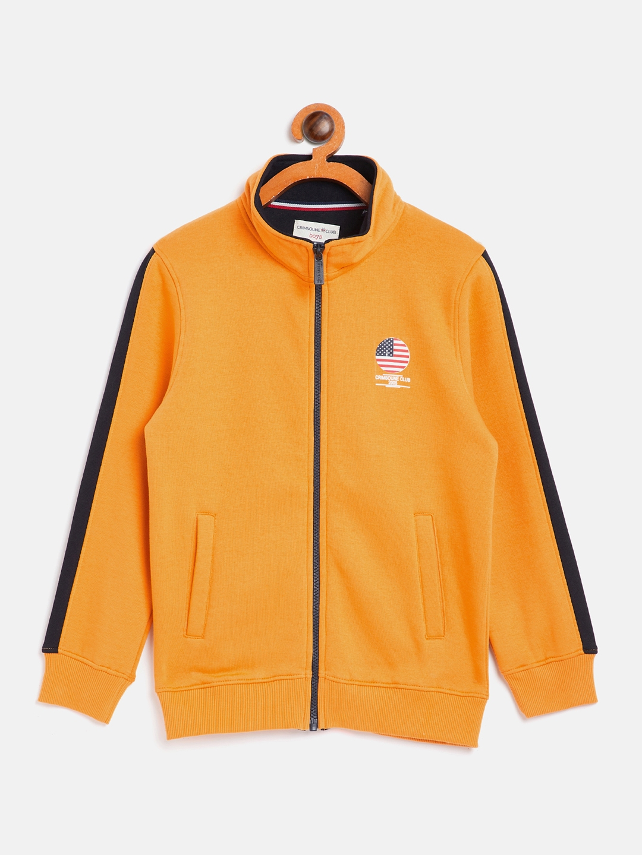 Crimsoune Club | Crimsoune Club Boy Solid Yellow Sweat Shirt