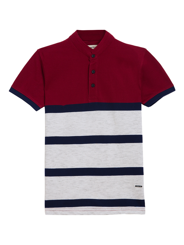 Crimsoune Club | Crimsoune Club Boy's Maroon Striped T-Shirt