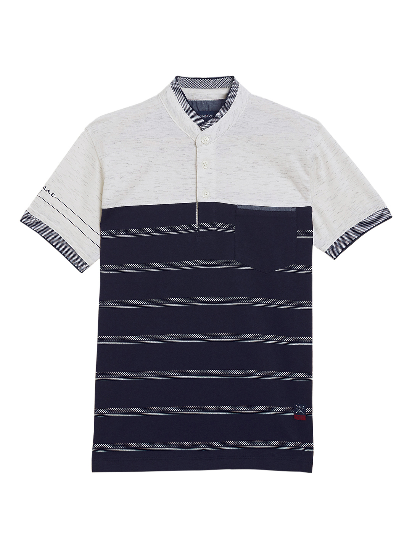 Crimsoune Club | Crimsoune Club Boy's Navy Blue Striped T-Shirt