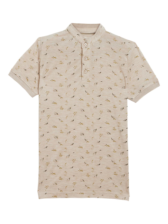 Crimsoune Club | Crimsoune Club Boy's Beige Printed T-Shirt
