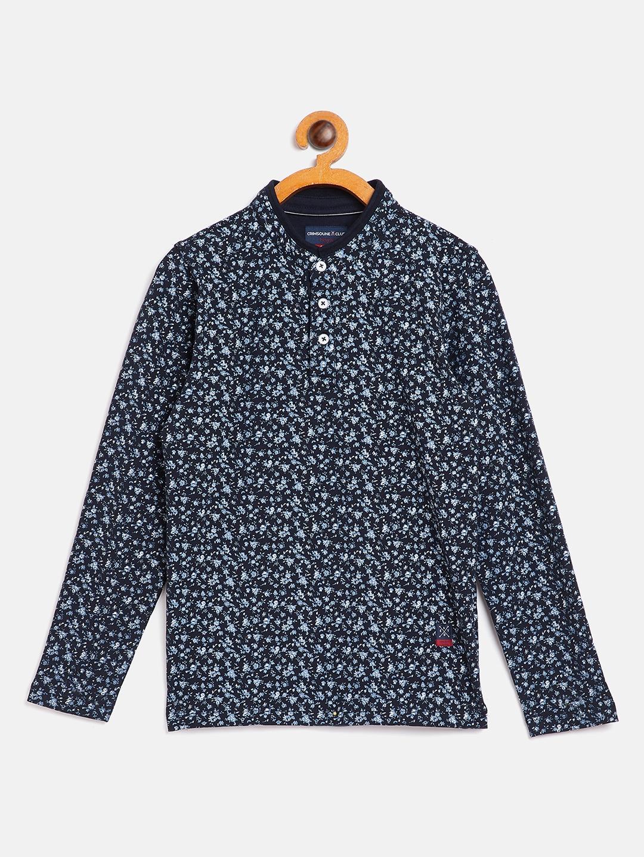 Crimsoune Club   Crimsoune Club Boy Printed Navy Blue Tshirt