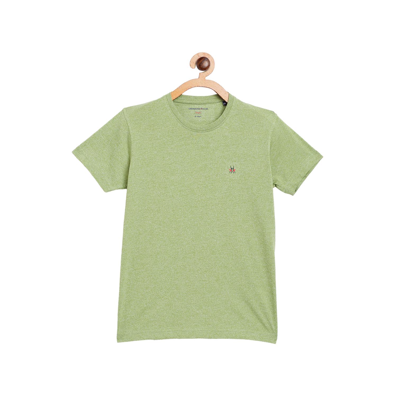 Crimsoune Club | Crimsoune Club Boy's Solid Green Tshirt