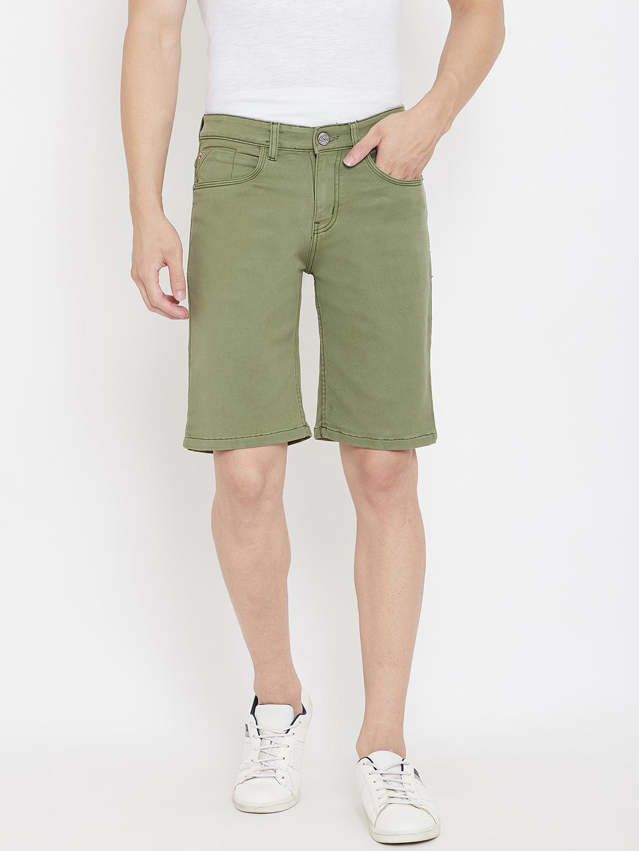 Crimsoune Club | Crimsoune Club Men's Solid Green Shorts