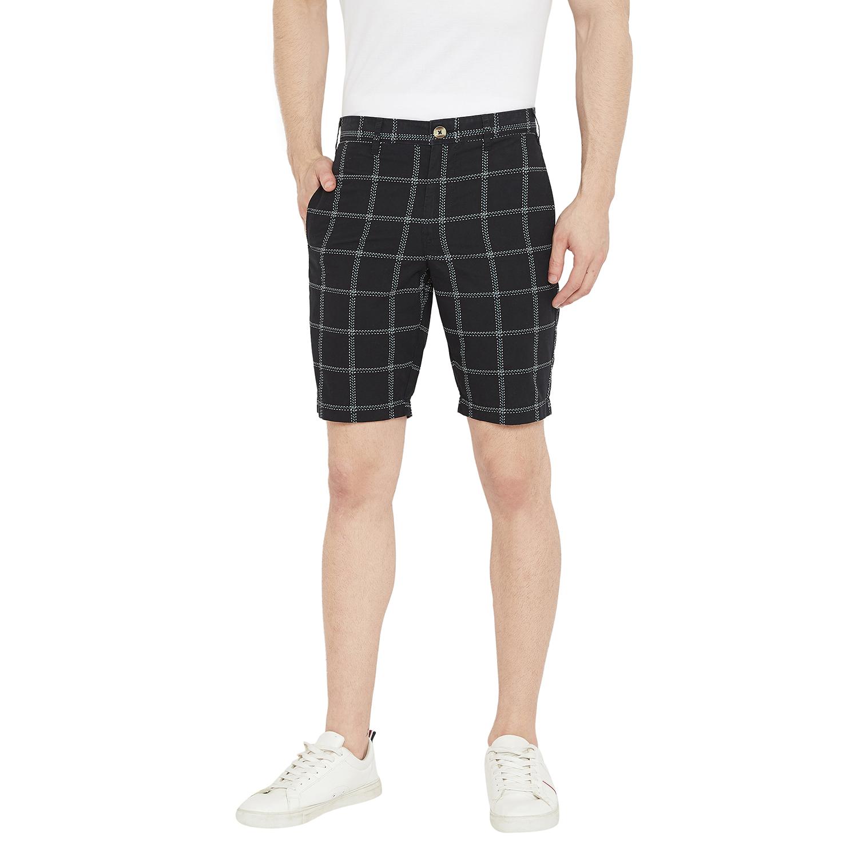 Crimsoune Club | Crimsoune Club Mens Checked Black Shorts