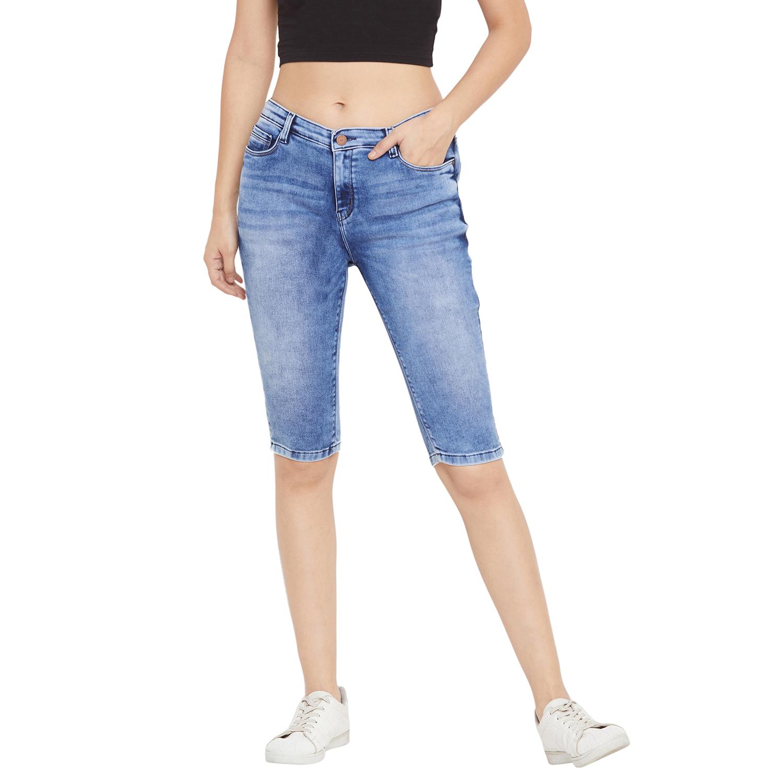 Crimsoune Club   Crimsoune Club Women's Blue Solid Shorts